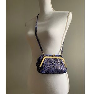 Urban Outfitters indigo & gold purse